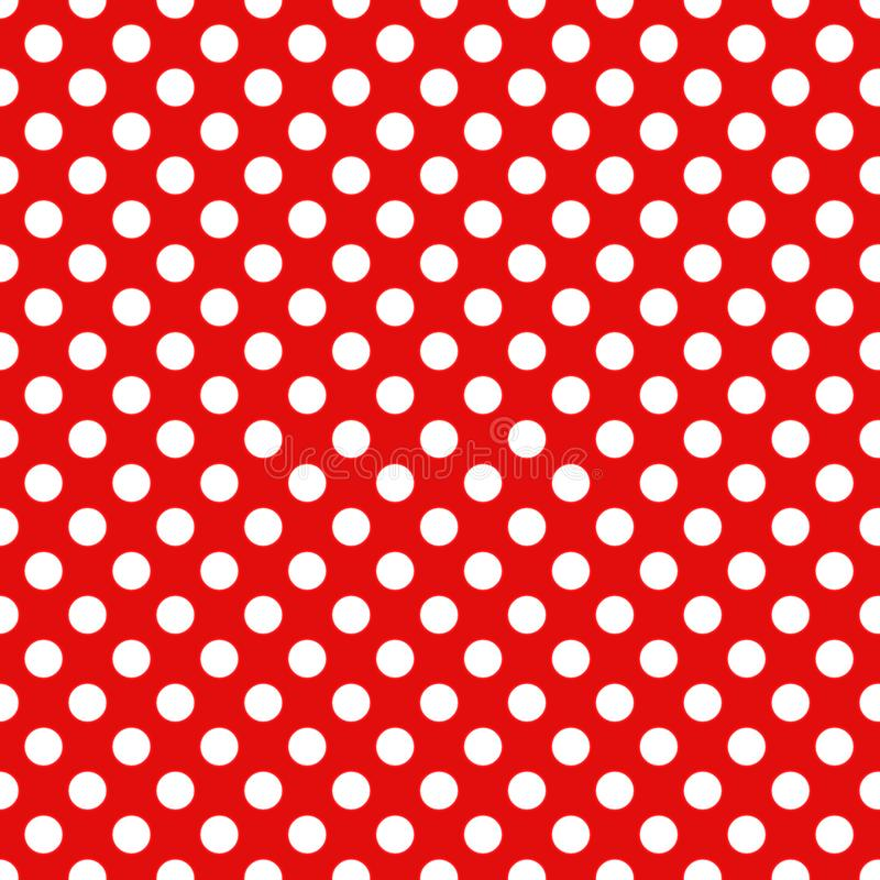 Seamless Christmas wrapping paper pattern. Festive Christmas dot pattern. White dots on red background royalty free illustration