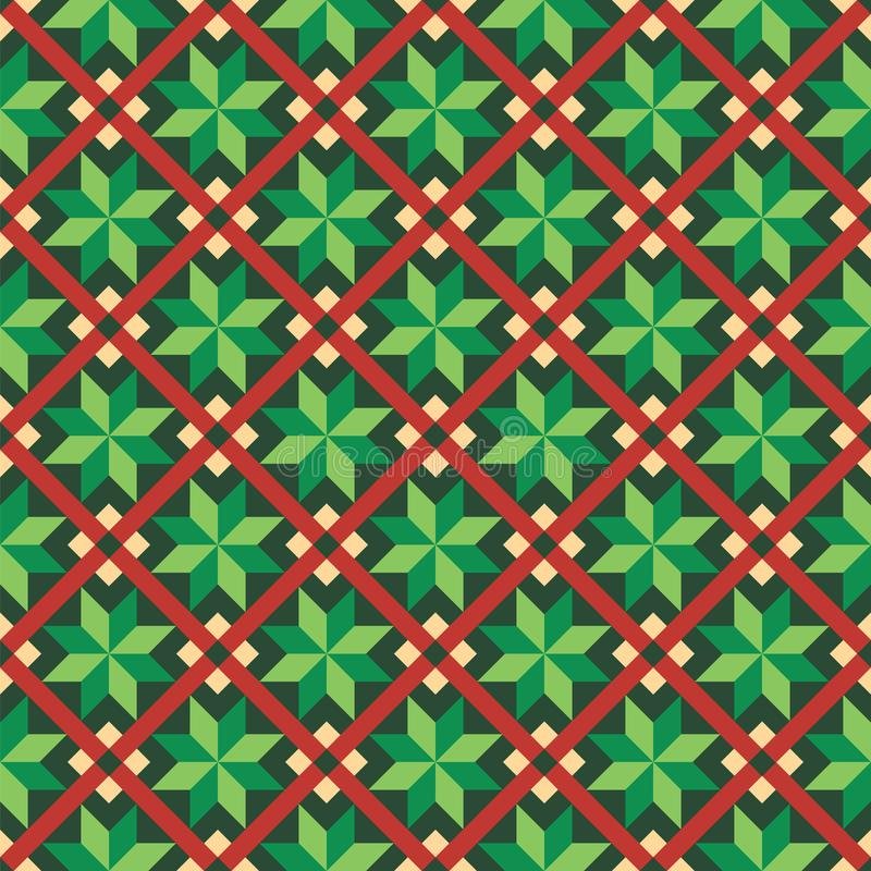 Seamless Christmas wrapping paper pattern vector illustration