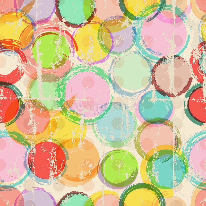 Seamless circle background, vector illustration