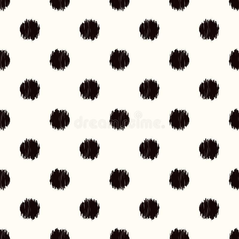 Seamless circle dots pattern vector illustration
