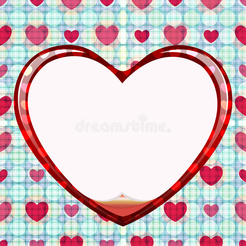 Seamless Circle Of Love Card Royalty Free Stock Image