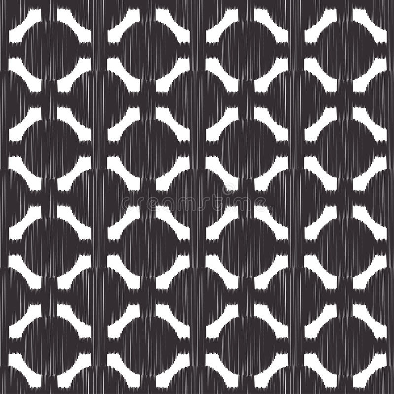 Seamless circle mesh pattern. Seamless circle dots mesh black pattern stock illustration