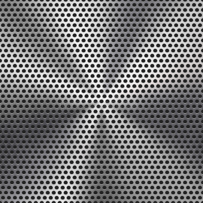 Seamless Circle Perforated Metal Grill Texture Stock