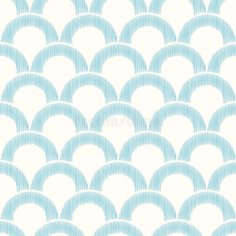 Seamless circle scallop mesh background. Seamless abstract textured circle scallop mesh background vector illustration