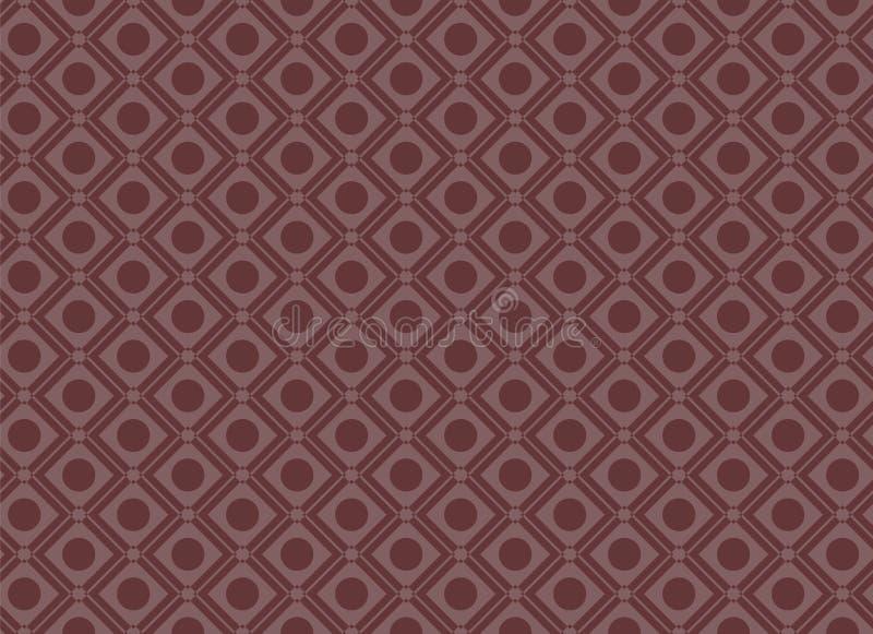 Seamless Circle Square Geometric Pattern Red royalty free illustration