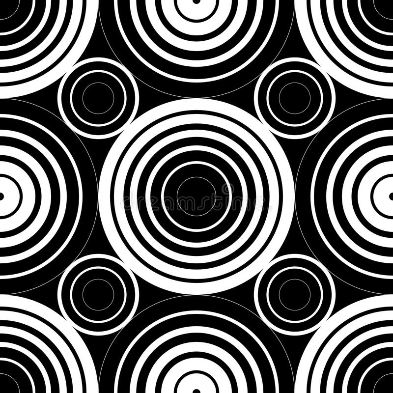 Seamless Circles Background. Abstract Seamless Monochrome Circles Background vector illustration