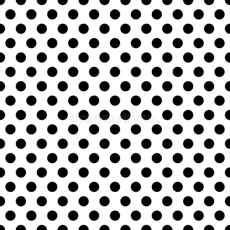 Seamless circles, dots pattern. Seamlessly repeatable polka dot stock illustration