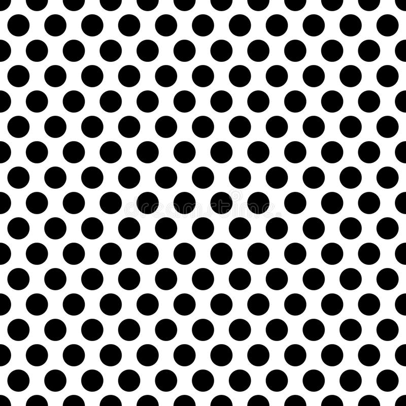 Seamless circles, dots pattern. Seamlessly repeatable polka dot royalty free illustration