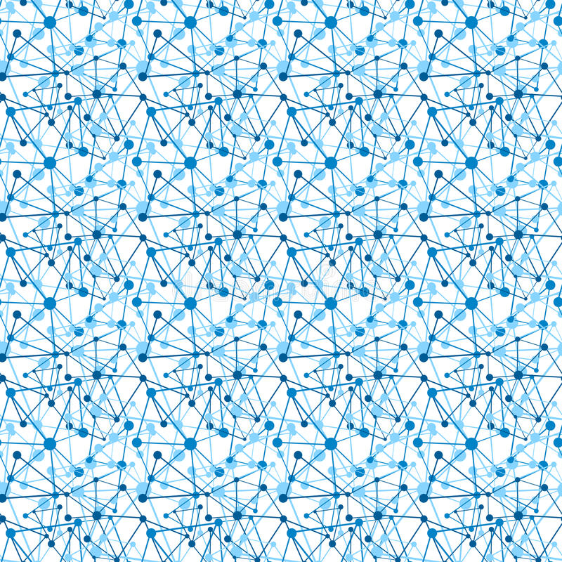 Seamless Circles and lines pattern stock image
