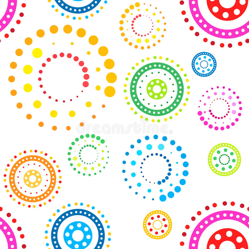 Seamless circles pattern royalty free illustration