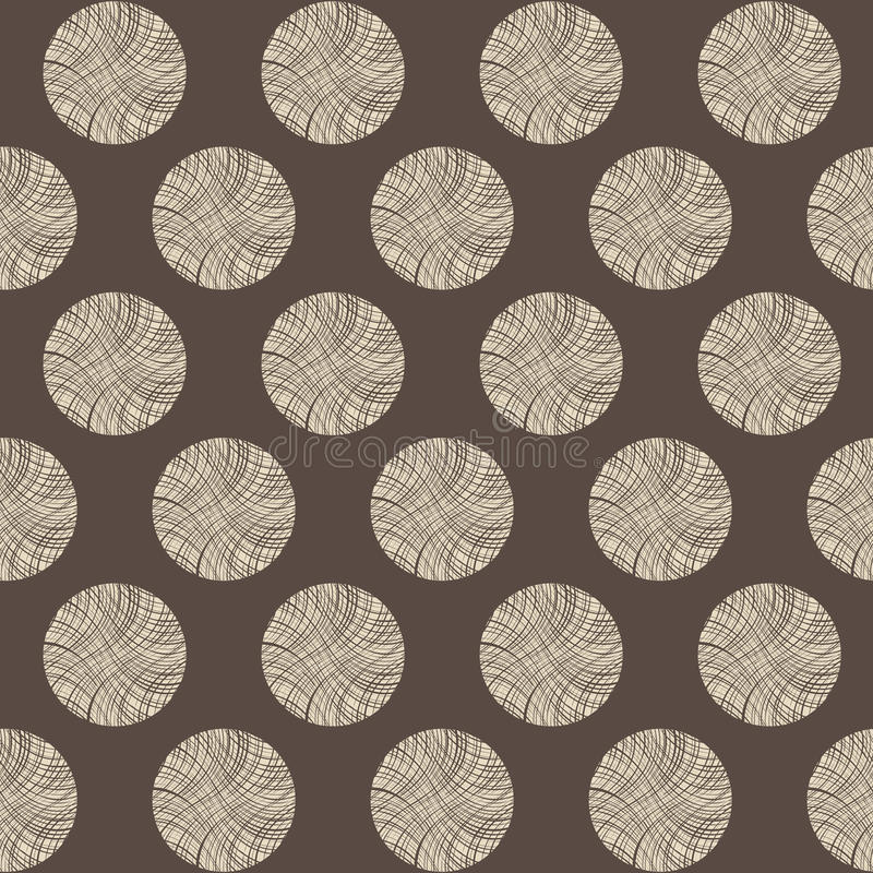 Seamless circles stump pattern stock illustration