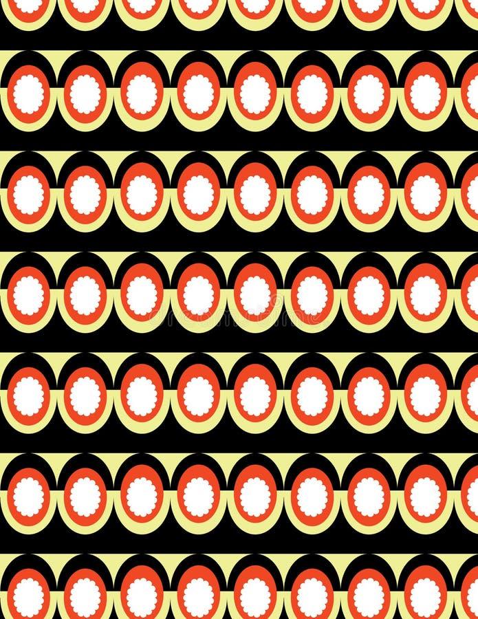 Geometrical pattern brown stock illustration