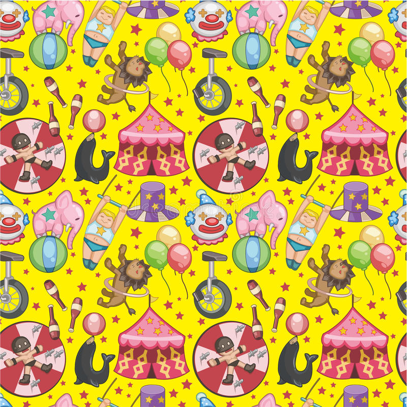 Seamless Circus pattern. Vector drawing vector illustration
