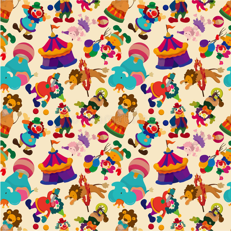 Seamless circus pattern stock illustration