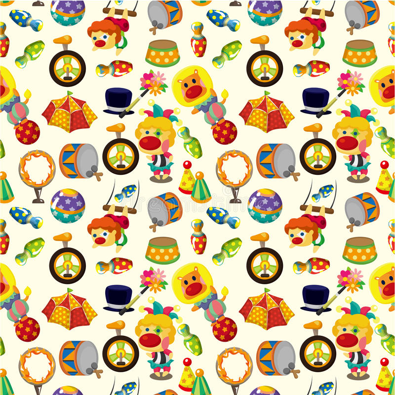 Seamless circus pattern vector illustration