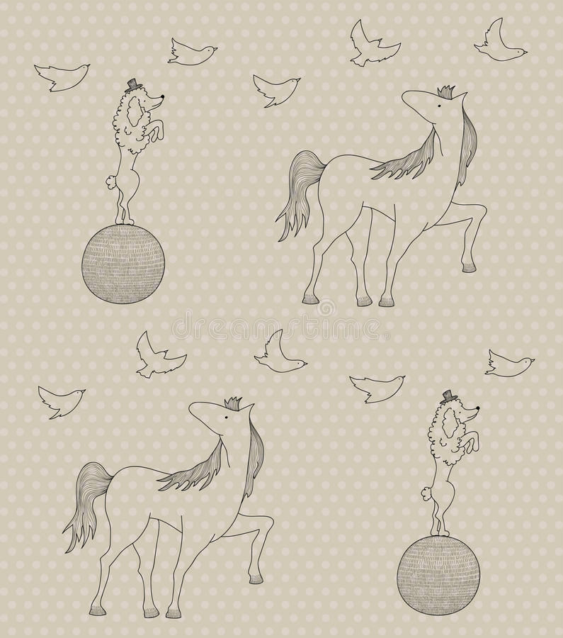 Seamless circus pattern royalty free illustration