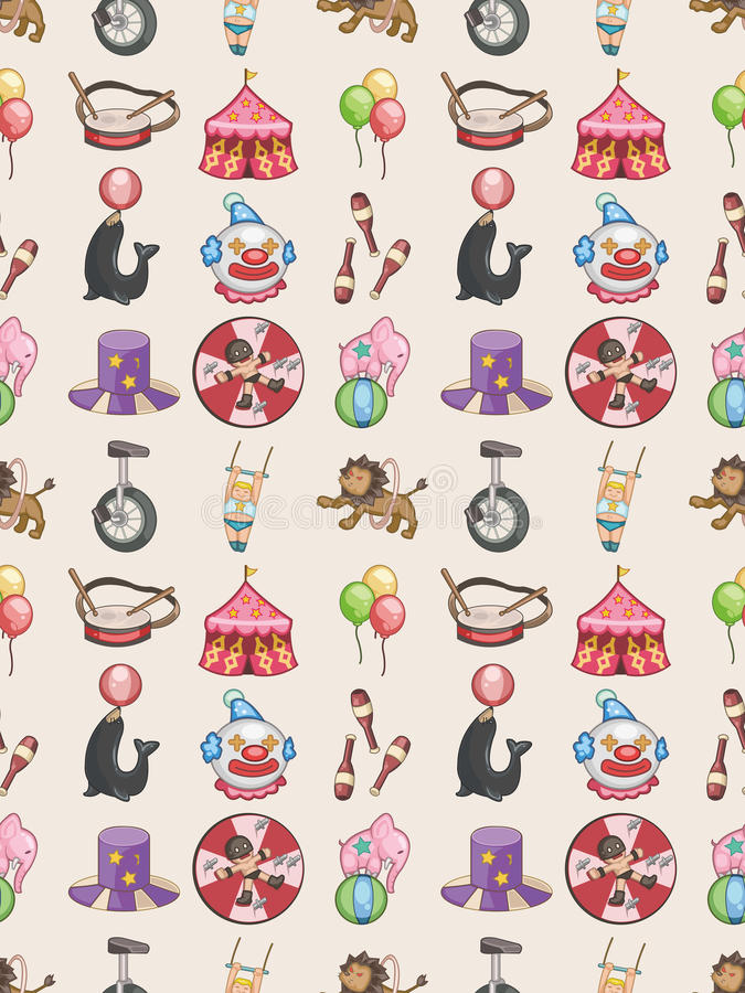 Download Seamless Circus Pattern Royalty Free Stock Images - Image: 28102329