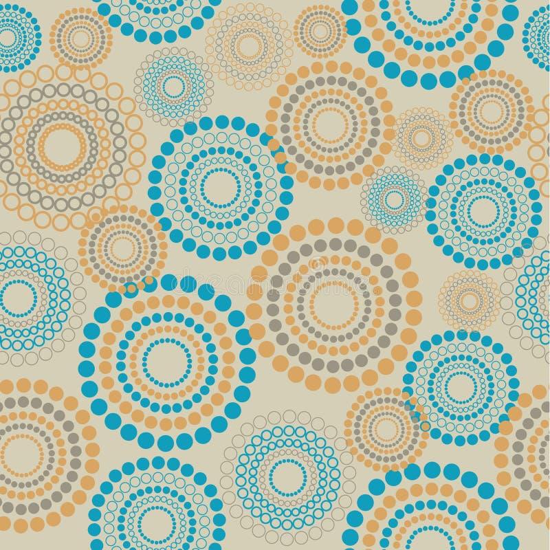 seamless cirkelmodell royaltyfri illustrationer