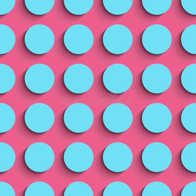 seamless cirkelmodell Mjuk bakgrund för vektor stock illustrationer