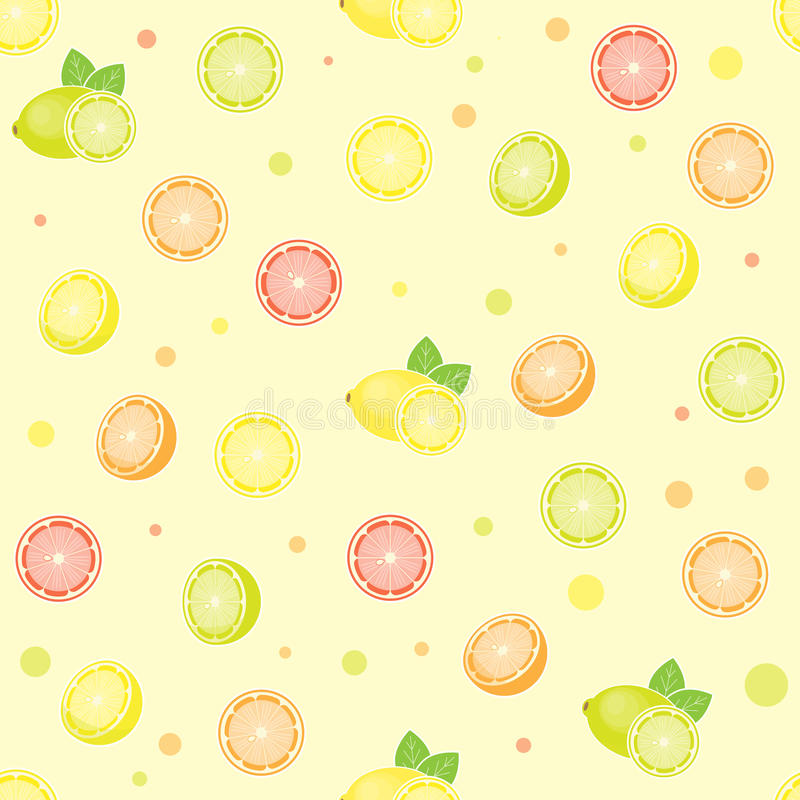 seamless citrus modell stock illustrationer