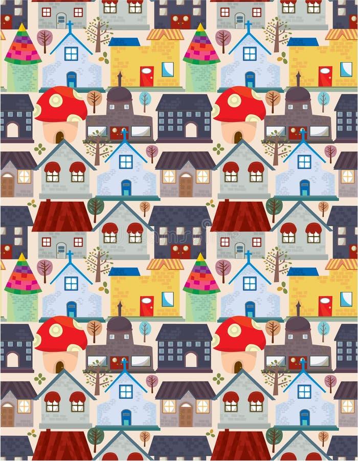 Seamless City Pattern Royalty Free Stock Image
