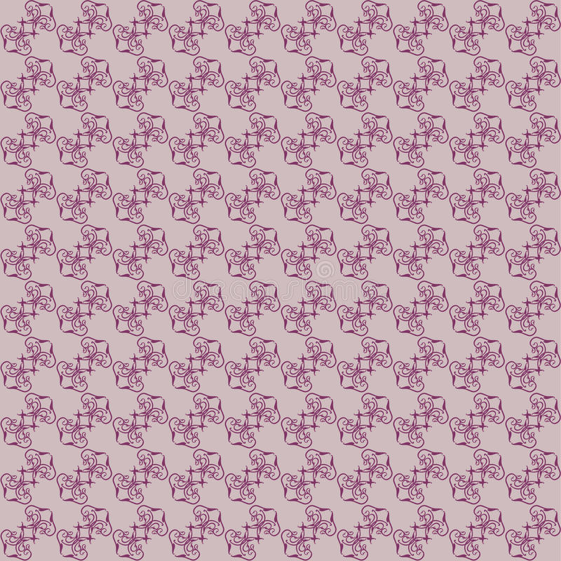 Seamless claret color floral background vector illustration