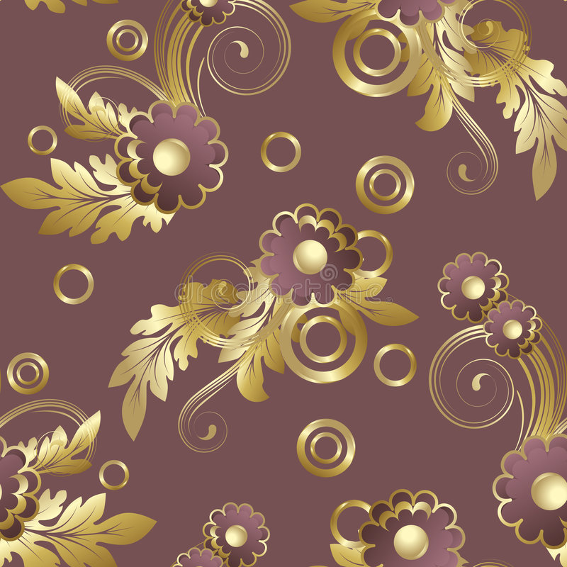 Download Seamless  With Claret Flowers Stock Vector - Image: 6005213