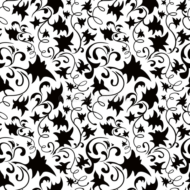 Seamless Classicism Wallpaper. Seamless Classicism Black and White Pattern vector illustration