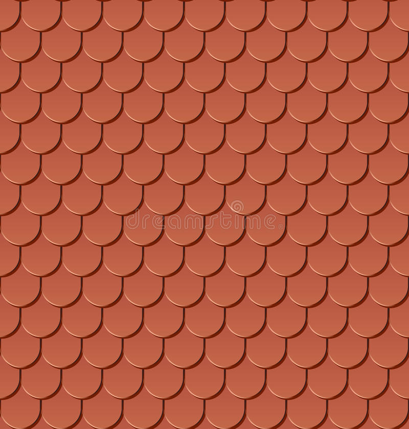 Free Seamless Clay Roof Tiles Stock Photos - 25978943