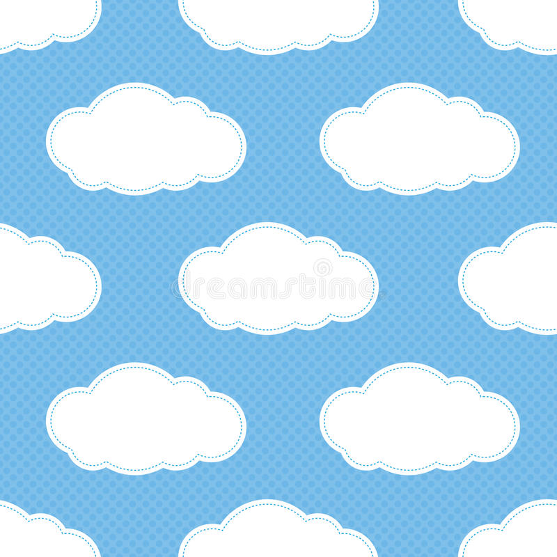 Download Seamless Cloud Pattern stock illustration. Illustration of blue - 25132937