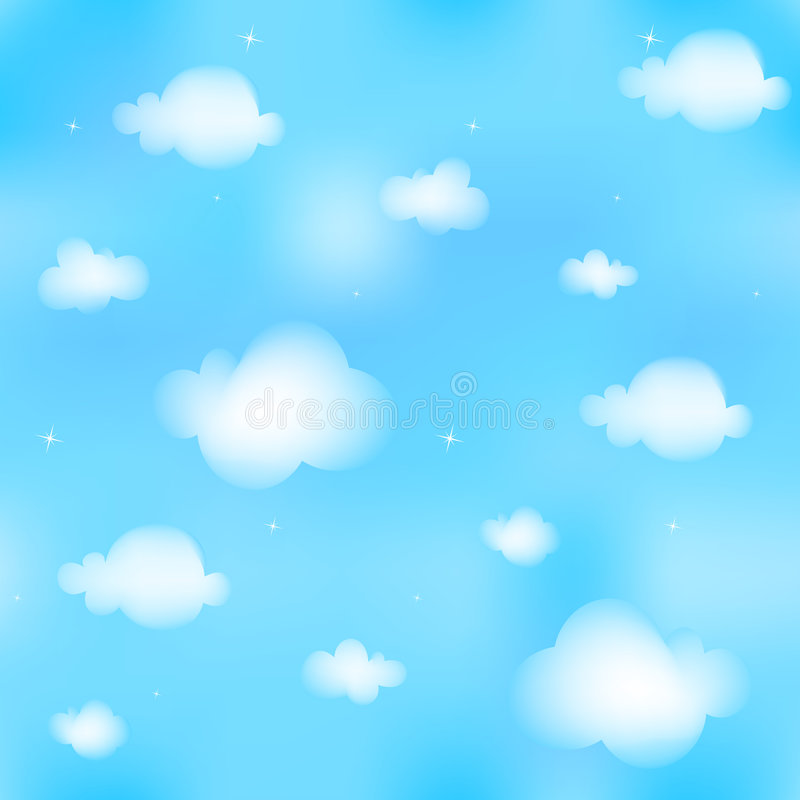 Download Seamless cloudscape stock illustration. Image of season - 6427825