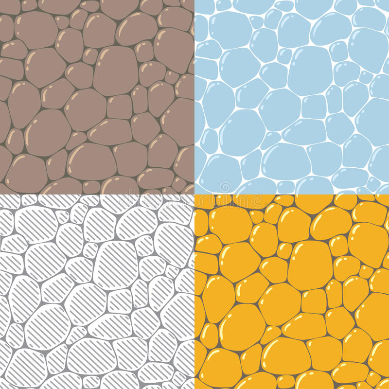 Seamless cobblestone or paving stone background royalty free illustration