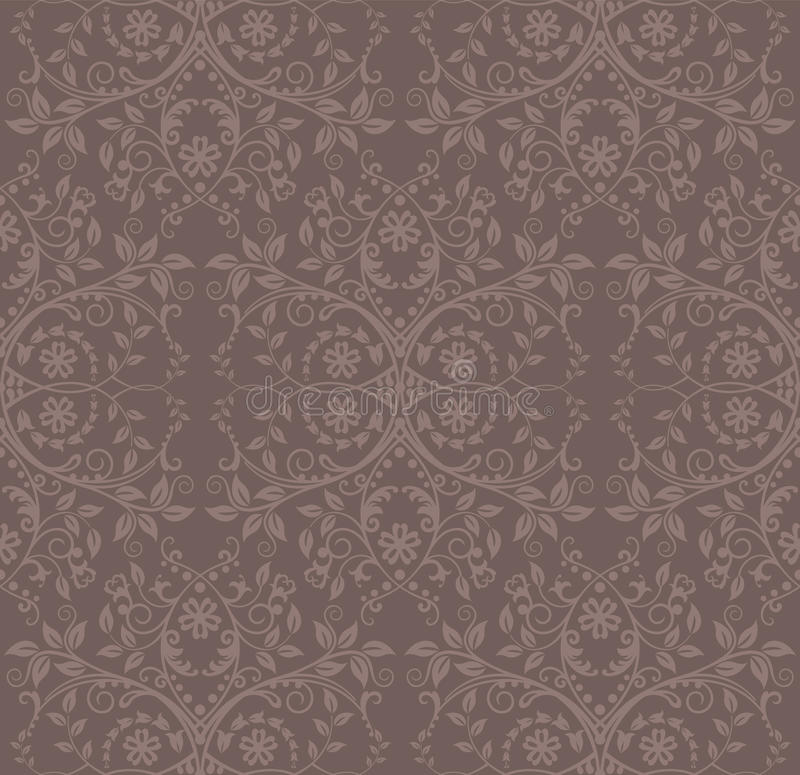 Download Seamless Cocoa Floral Wallpaper Stock Vector - Image: 17608612