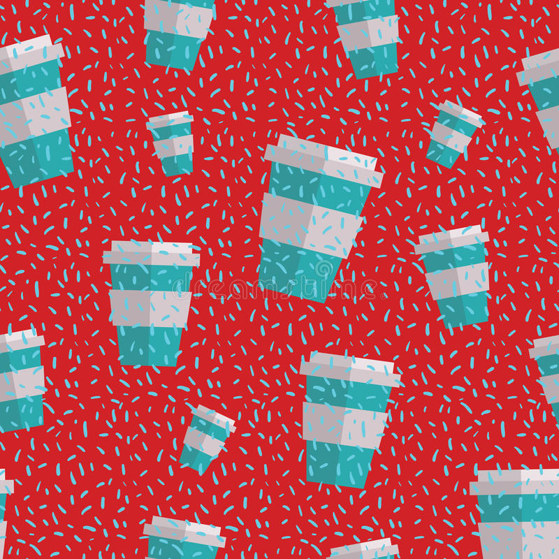 Seamless Coffee Cup Pattern Royalty Free Stock Images