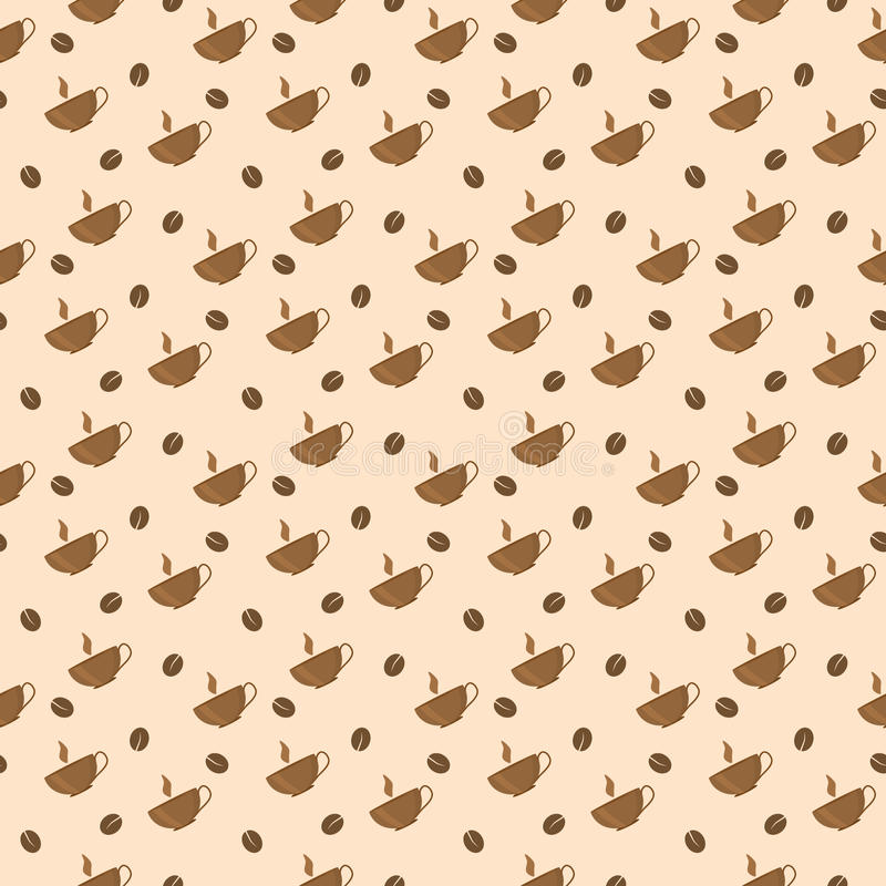 Download Seamless coffee pattern stock vector. Image of illustration - 18136939