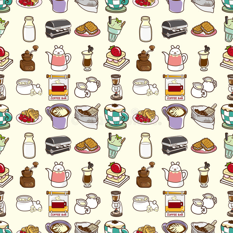 Download Seamless coffee pattern stock vector. Illustration of aroma - 28010714