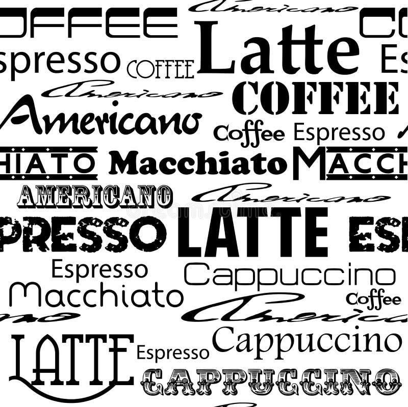 Seamless coffee pattern. royalty free illustration