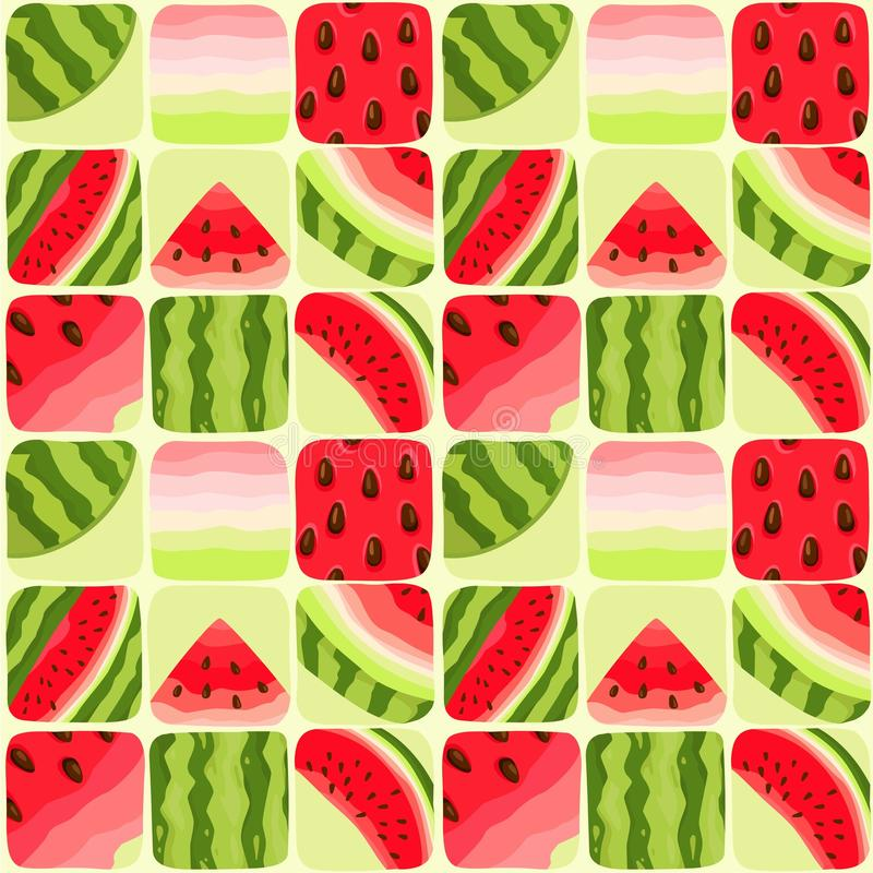 Seamless color background of part of a water-melon. Vector illustration: Seamless color background of part of a water-melon vector illustration