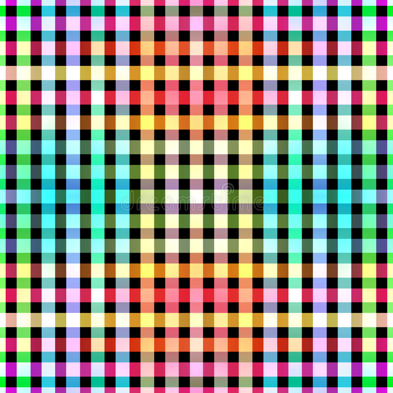 Seamless color blocks grid pattern background stock images