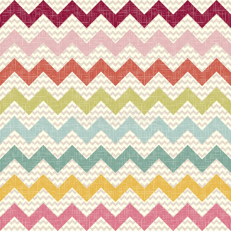Download Seamless Color Chevron Pattern On Linen Texture Stock Vector - Image: 27390123