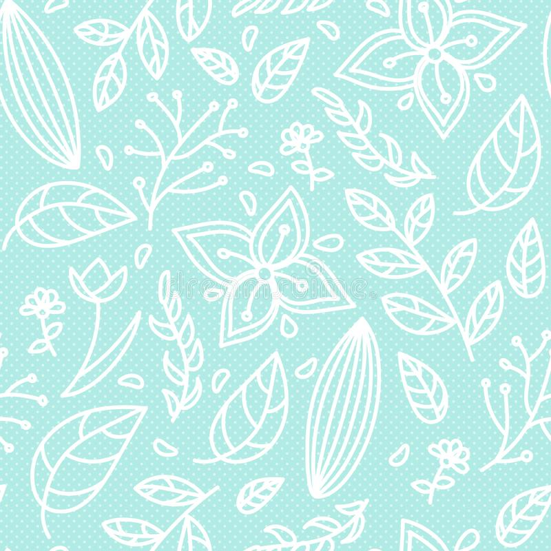 Seamless color Floral pattern stock illustration
