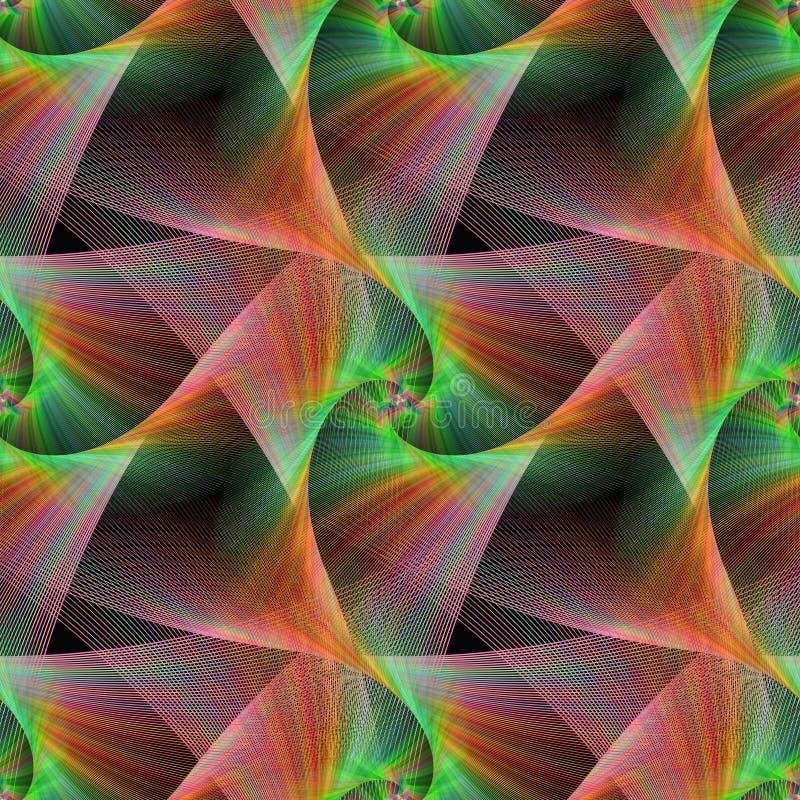Seamless color fractal veils background. Seamless computer generated color fractal veils background vector illustration