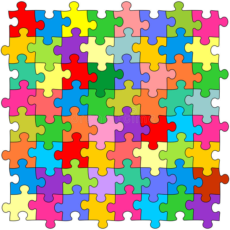 Download Seamless Color Puzzles Background Stock Vector - Image: 17073938