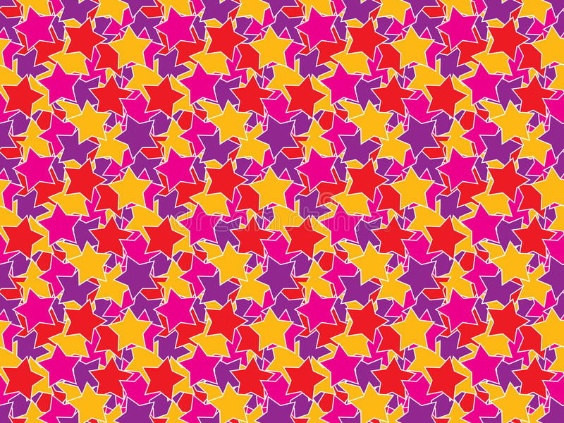 Seamless color stars pattern stock illustration
