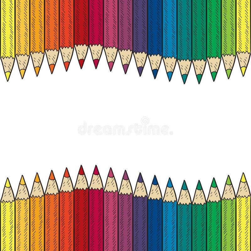 Download Seamless Colored Pencil Vector Border Stock Vector - Image: 24689703