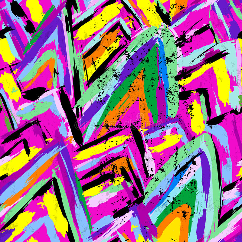 Seamless colored strokes pattern royalty free illustration