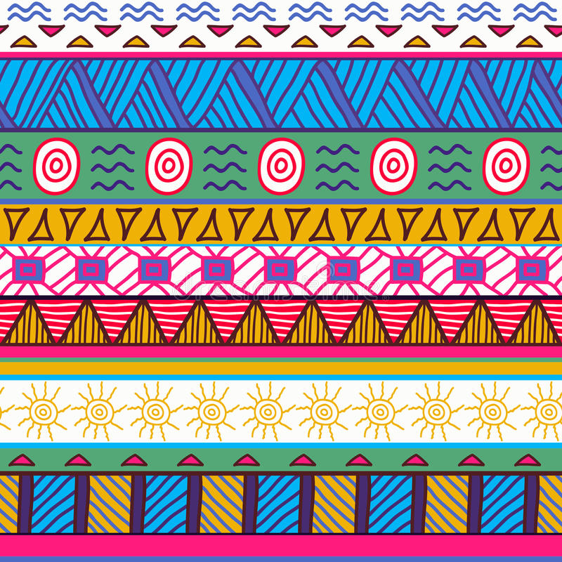 Free Seamless Colorful Aztec Pattern Royalty Free Stock Photography - 36432257
