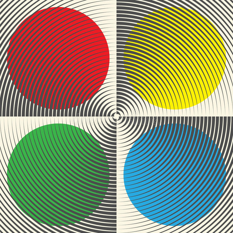 Seamless Colorful Circle Pattern. Abstract Graphic Design Elements. Vector Minimal Background royalty free illustration