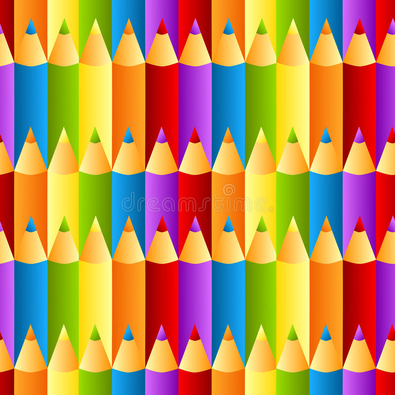 Free Seamless Colorful Crayons Pattern Background Stock Photography - 27666932