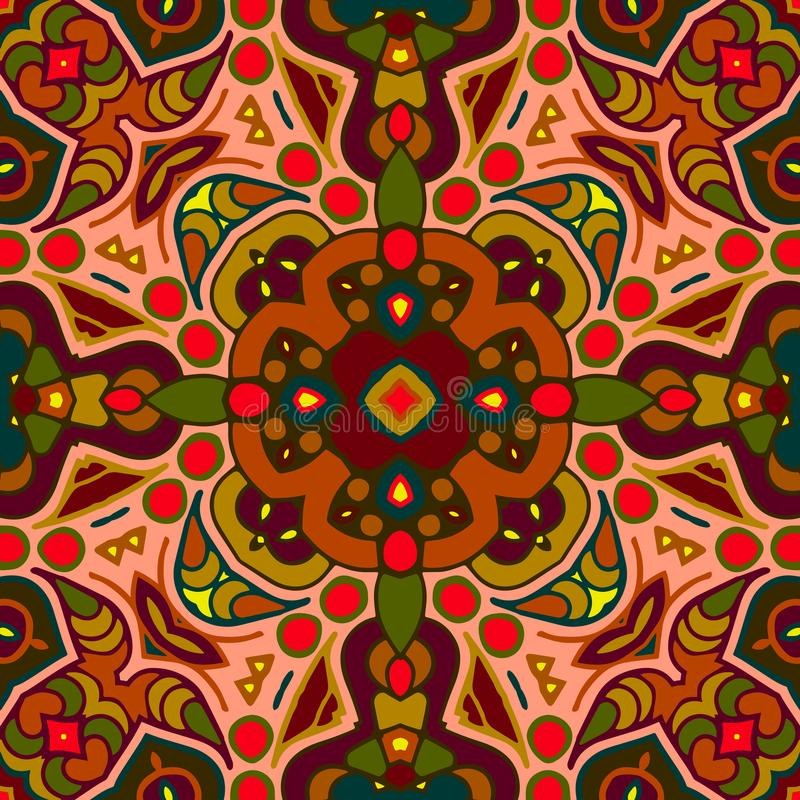 Seamless colorful of ethnic pattern royalty free stock photography